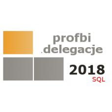 Profbi Delegacje 2018 SQL Krajowe i Zagraniczne (licencja 1 rok) bez limitu stanowisk pierwszy zakup